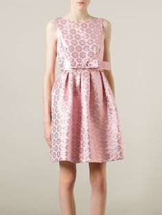 P.A.R.O.S.H. belted flared floral dress