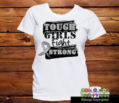 Brain Cancer Tough Girls Fight Strong Shirts