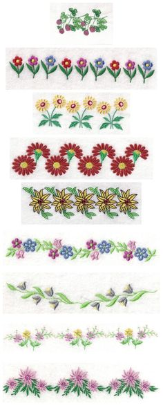 5x7 Floral Endless Borders Embroidery Machine Design Details
