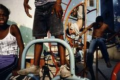 CUBA. Havana. 2000. Children playing in a playground.