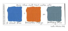 New Brittany Blue colour.mixing Greek blue and Barcelona orange Annie Sloan Chalk Paint Furniture, Annie Sloan Chalk Paint Colors, Annie Sloan Paints, Paint Swatches, Color Swatches, Chalk Paint Projects, Paint Ideas, Paint Color Schemes, Paint Colours