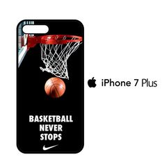 basketball never stops iPhone 7 Plus Case Iphone 7 Plus Cases, Phone Cases, Basketball, Future, Future Tense, Netball, Phone Case