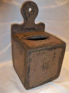 Square Tissue Box Holder by TheBarnWoodshop on Etsy
