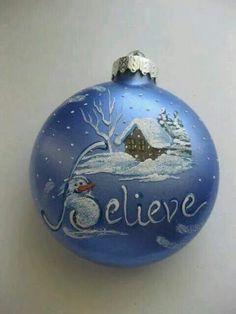 Believe ~ Christmas Ornament
