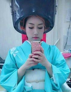 japonaise sous le casque