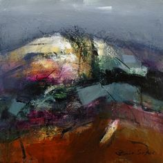 """Snow on the Hills"" by Patricia Sadler - acrylic on canvas"