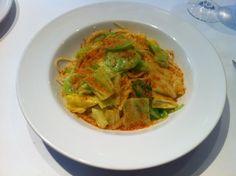 spring cabbage and Bottarga pasta