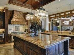 Gourmet kitchen www. Luxury Kitchens, Cool Kitchens, Dream Kitchens, Modern Kitchens, Big Kitchen, Kitchen Ideas, Awesome Kitchen, Kitchen Island, Texas Kitchen