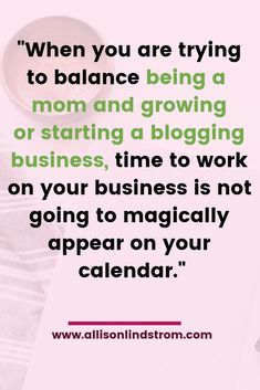 """Running a blogging business is not easy. It doesn't matter what your situation is, it's going to be a challenge. However, when you're a mom and you add little ones into the mix it adds a new piece to the puzzle. They depend on you for everything which makes it more difficult to find the time to complete your blogging business tasks. You can't just set aside your """"mom"""" tasks in order to run your business. Those little humans are counting on you and you need to make sure they have the time, Make Money Blogging, How To Make Money, Increase Productivity, Time Management Tips, Blog Sites, Business Tips, Online Business, Free Blog, How To Start A Blog"""
