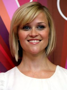 Reese Witherspoon short bob with side-swept bangs