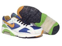 best sneakers 8ee18 e9062 Danmark Billige Nike Air Max 180 Trainers Mænd - Black Blue Green Orange