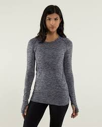 long sleeve swiftly heathered cadet blue