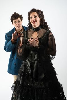 "Nell Geisllinger as Viola/Cesario and Melinda Pfundstein as Olivia in Utah Shakespeare Festival's 2014 production of ""Twelfth Night."" (Photo by Karl Hugh. Copyright 2014 Utah Shakespeare Festival.) www.bard.org"