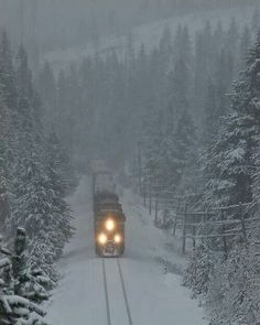 Snow train.  Oregon
