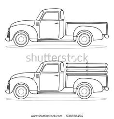 Color A Car Classic Truck Printables Truck Coloring Pages Cars