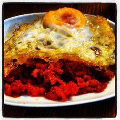 Picadillo con huevo. La Taberna del Tío Blas - Logroño (La Rioja)