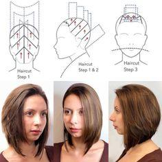Hair Cutting Videos, Hair Cutting Techniques, Hair Color Techniques, Bob Hair Color, Hair Color And Cut, Hair Cut Guide, Hair Essentials, Hair Shows, Love Hair