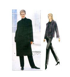 1990s DKNY Vogue JACKET COAT Skirt Pattern Donna Karan American Designer Vogue 219 by DesignRewindFashions Vintage & Modern Sewing Patterns