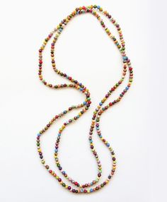 Handcrafted by artisans in Unganda. Noonday is provided a market for these artisans, and providing them with a dignified job at the same time.. empowering women.  Love.  Dainty Paper Bead Necklace - Noonday Collection  Megansnoondaycollection.com
