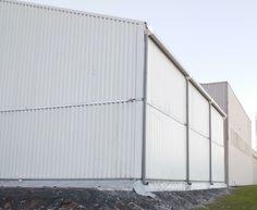 Construction #démontable #modulaire par #Legoupil Industrie, bâtiment temporaire de stockage de 225m², loué pour 24 mois.