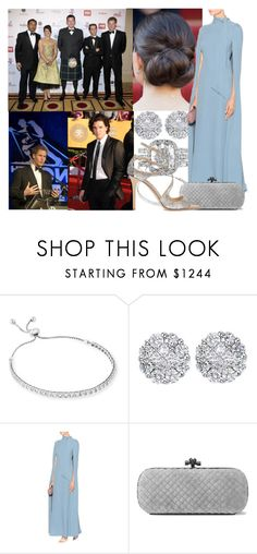 """""""Attending the Walking With The Wounded Crystal Ball Gala Dinner at The Grosvenor House Hotel with Thomas"""" by alexandraofwales ❤ liked on Polyvore featuring Allurez, Valentino, Bottega Veneta and Jimmy Choo"""