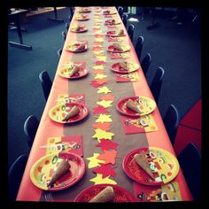 School Thanksgiving feast! This looks good for my program's upcoming party!