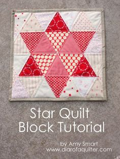 Triangle star quilt block tutorial - lovely for Christmas. Diary of a Quilter - a quilt blog