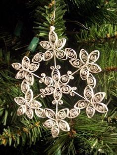 Quilled Snowflake Ornament/Suncatcher by joanscrafts on Etsy, $9.00