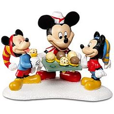 Disney ''Mickey Serving Treats'' Morty and Ferdie Fieldmouse and Mickey Mouse Figurine by Dept. Mickey Mouse Figurines, Minnie Mouse, Disney Mickey Mouse, Disney Christmas Village, Christmas Villages, Christmas Houses, Christmas Presents, Merry Christmas, Christmas Decorations