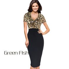Summer sexy Deep V neck leopard pinted evening dresses women