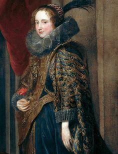 Portrait de Paolina Adorno Brignole-Sale, 1627 Anthony van Dyck Détail