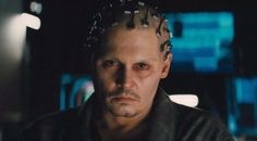 """That includes scenes where the scientist's wife, Evelyn (Rebecca Hall), is communicating in a lab with a hologram-like digital image of Depp's character. """"Rebecca would act on set with an projected image of Johnny, and Johnny was in a dark booth with a camera on him, on the same set,"""" explained Pfister."""