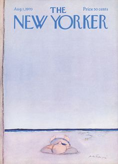 The New Yorker - Saturday, August 1, 1970 - Issue # 2372 - Vol. 46 - N° 24 - Cover by : André François