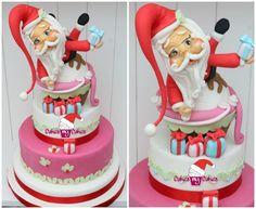 Babbo Natale - by cakesmycakes @ CakesDecor.com - cake decorating website