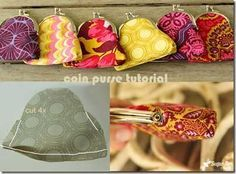 Free sewing tutorial: coin purse with coordinating fabrics = easy #bags #patterns May I have one?