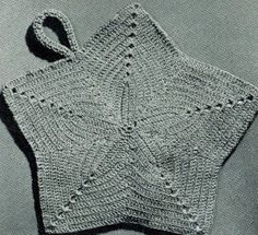 Star Potholder | Free vintage crochet Pattern ♡ Teresa Restegui http://www.pinterest.com/teretegui/ ♡
