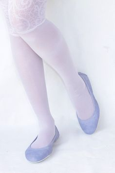 Simply Me in Lilac Handmade Leather ballet by TheDrifterLeather