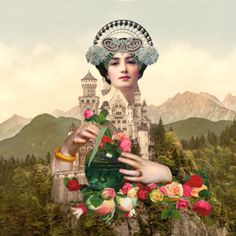 Ladyscape1 · Studio collagevallente · Almofadas · R$65,00