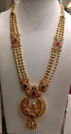 Fulfill a Wedding Tradition with Estate Bridal Jewelry Gold Earrings Designs, Gold Jewellery Design, Necklace Designs, Necklace Ideas, Simple Necklace, Pendant Jewelry, Beaded Jewelry, Pearl Jewelry, Indian Jewelry