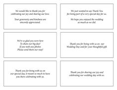 wedding card thank you wording for friends Card Pinterest