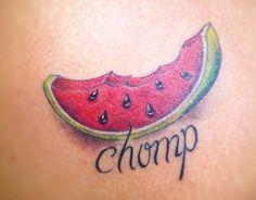 Watermelon tattoo Tatuagem de melancia Melancia