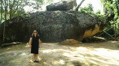 E essa pedra, não parece um tubarão?