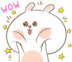 TuaGom : Puffy Rabbit by Tora Jung sticker Cute Bunny Cartoon, Cute Cartoon Images, Cute Images, Cute Cartoon Wallpapers, Cute Love Gif, Cute Love Pictures, Cute Bear Drawings, Korean Stickers, Cute Sketches