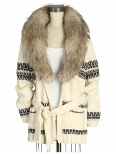 Juicy Couture Faux Fur Jacquard Cardigan (a favourite VIP fashion au repin of www.vipfashionaustralia.com )