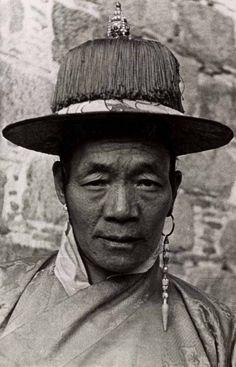 Tibet | Portrait of Yapshi Phunkang Kung. Lhasa; 1936 - 1937. | Photographer: Sir Philip Neame