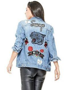Ellie Destroyed Jean Jacket | shop.GUESS.com
