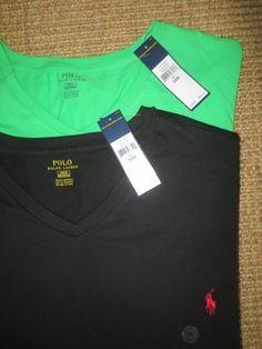 POLO  RALPH LAUREN  BIG AND TALL MEN'S 3XB T -  SHIRTS  V - NECK TOPS 3 XB NEW #PoloRalphLauren #BasicTee
