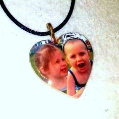 Buy Personalize Heart  Photo Necklace Pendant Jewelry Mom Grandma Customize Photo Mother's Day by sherrollsdesigns. Explore more products on http://sherrollsdesigns.etsy.com