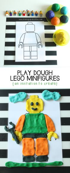 Dough LEGO Minifigures {an invitation to create Play Dough LEGO Minifigures {an invitation to create} - Mama.Play Dough LEGO Minifigures {an invitation to create} - Mama. Legos, Minifigura Lego, Lego Craft, Lego Batman, Lego Club, Playdough Activities, Preschool Activities, Lego Therapy, Therapy Ideas