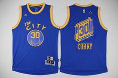 5e58ac242f1 Golden State Warriors  30 Curry Revolution 30 Swingman 2015-16 Retro Blue  Jersey Warriors